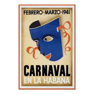 Póster Viaje del en La Habana La Habana Cuba de Carnaval