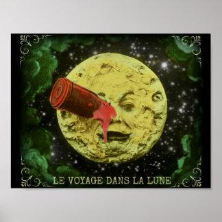 Póster Viaje del la Lune/A de los dans de Le Voyage al