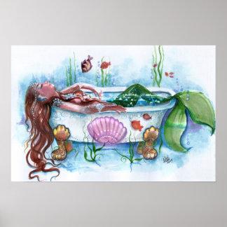 Póster Vida dulce, sirena en una bañera