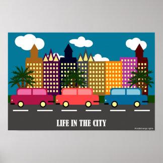 Póster Vida en la ciudad