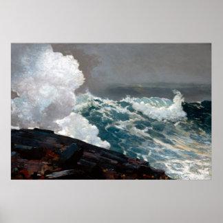 Póster Viento del norte de Winslow Homer
