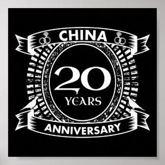 Póster vigésima China del aniversario de boda