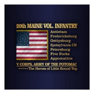 Póster vigésimo Infantería voluntaria de Maine (BH)