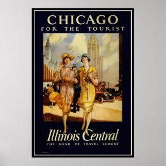 Póster Vintage Chicago, los E.E.U.U. -
