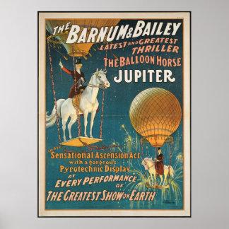 Póster Vintage: circo Barnum y Bailey -