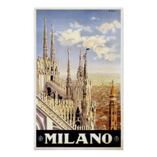 Póster Vintage de Milano