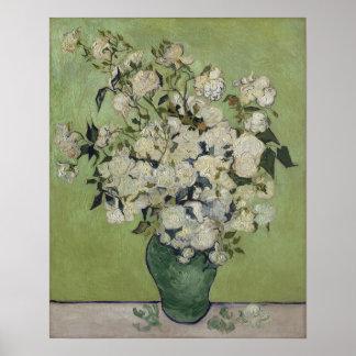 Póster Vintage GalleryHD floral de los rosas de Vincent