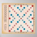 Póster Vintage Gameboard del Scrabble