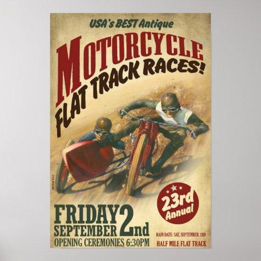 PÓSTER VINTAGE MOTORCYCLE EVENT