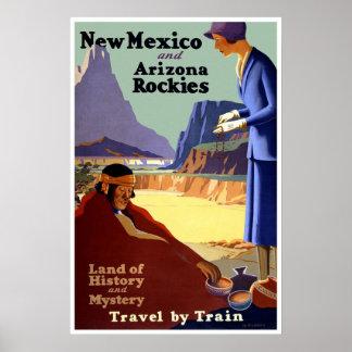 Póster Vintage New México y poster del viaje de Arizona