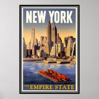Póster Vintage New York City, los E.E.U.U. -