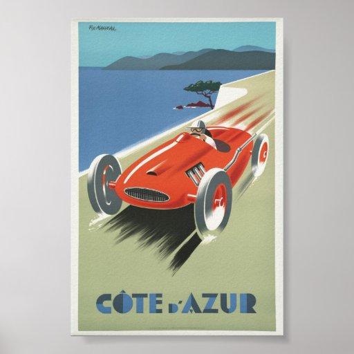Póster Vintage Poster Cote de Azur French Riviera