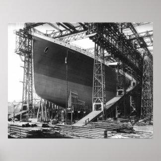 """Póster Vintage RMS titánico en el poster 16"""" del"""