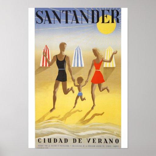 """Poster Vintage: """"Santander, Ciudad de Verano"""""""