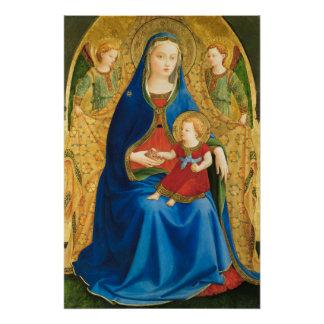 Póster Virgen del Fra Angelico con la granada CC0845