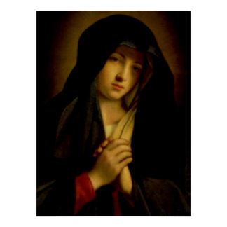 Póster Virgen María bendecido - madre de dios