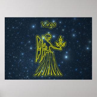 Póster Virgo brillante