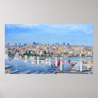 Póster Vista de Estambul