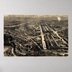 Póster Vista de la exposición del centenario de Filadelf