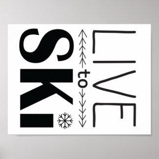 Póster Viva para esquiar poster