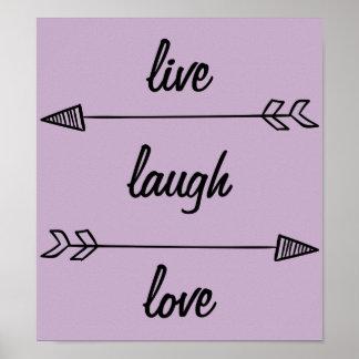 Póster Vive el poster del amor de la risa