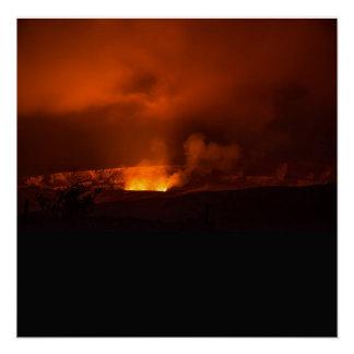 Póster Volcán activo