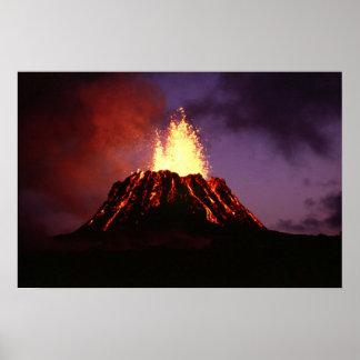 Póster Volcán de las islas hawaianas