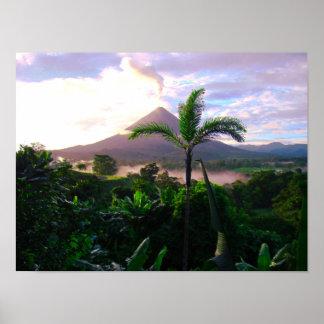 Póster Volcán en las zonas tropicales