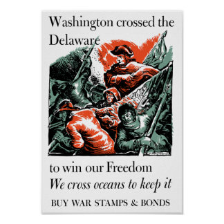 Póster Washington cruzó el Delaware -- WW2