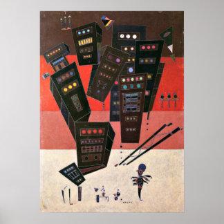 Póster Wassily Kandinsky - sombras