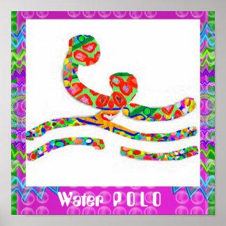 Póster WaterPOLO    - afición, ejercicio, deportes