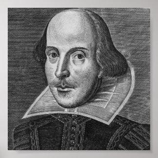 Póster William Shakespeare 1623