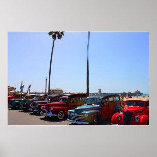 Póster Woody en el embarcadero de Huntington Beach