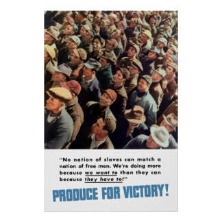 Póster WW2 -- ¡Producción para la victoria!