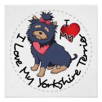 Póster Yo-Amor-Mi-Yorkshire-Terrier