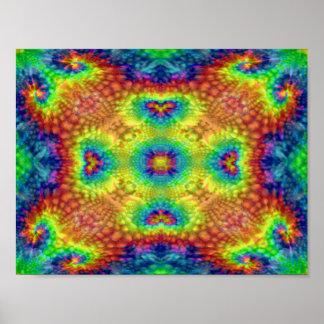 Posters coloridos del cielo del teñido anudado póster
