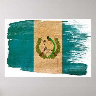 Posters de la bandera de Guatemala Póster
