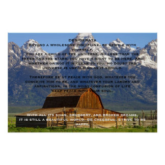 Posters de la cabina de la montaña de los