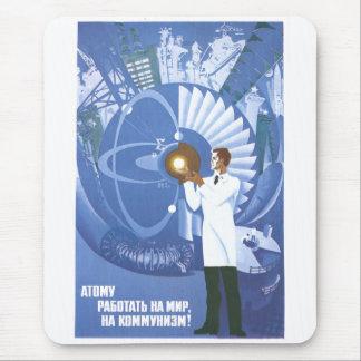 Posters de la propaganda de Unión Soviética de la Alfombrilla De Ratón