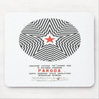 Posters de la propaganda de Unión Soviética de la  Tapetes De Ratones
