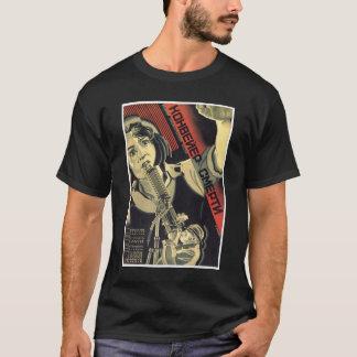 Posters de la propaganda de Unión Soviética de la Camiseta