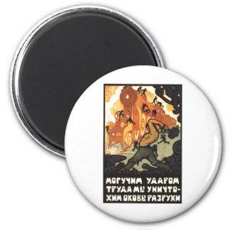Posters de la propaganda de Unión Soviética de la  Imanes