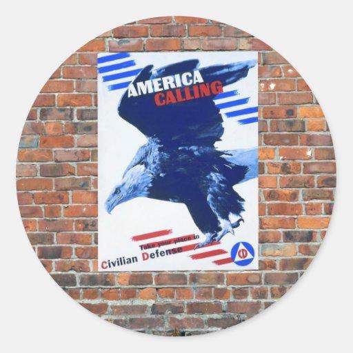 Posters de la propaganda del tiempo de guerra WW2 Pegatinas