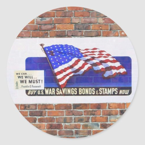 Posters de la propaganda del tiempo de guerra WW2 Pegatina