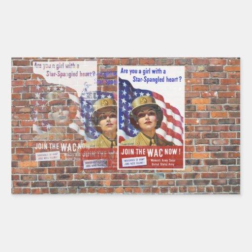 Posters de la propaganda del tiempo de guerra WW2 Rectangular Altavoces