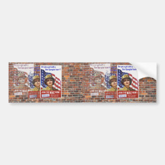 Posters de la propaganda del tiempo de guerra WW2 Pegatina Para Coche
