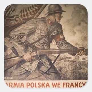Posters de la propaganda en el poster de pegatina cuadrada