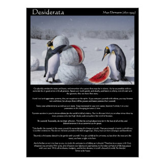 Posters de la sandía de la nieve de los pingüinos