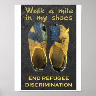 Posters de los refugiados de la ayuda póster