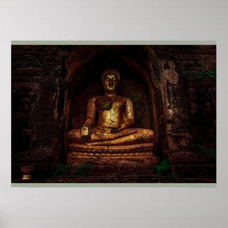 Posters de oro de Buda